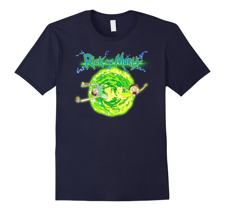 Rick & Morty Portal Glow Lightning Logo-T-Shirt