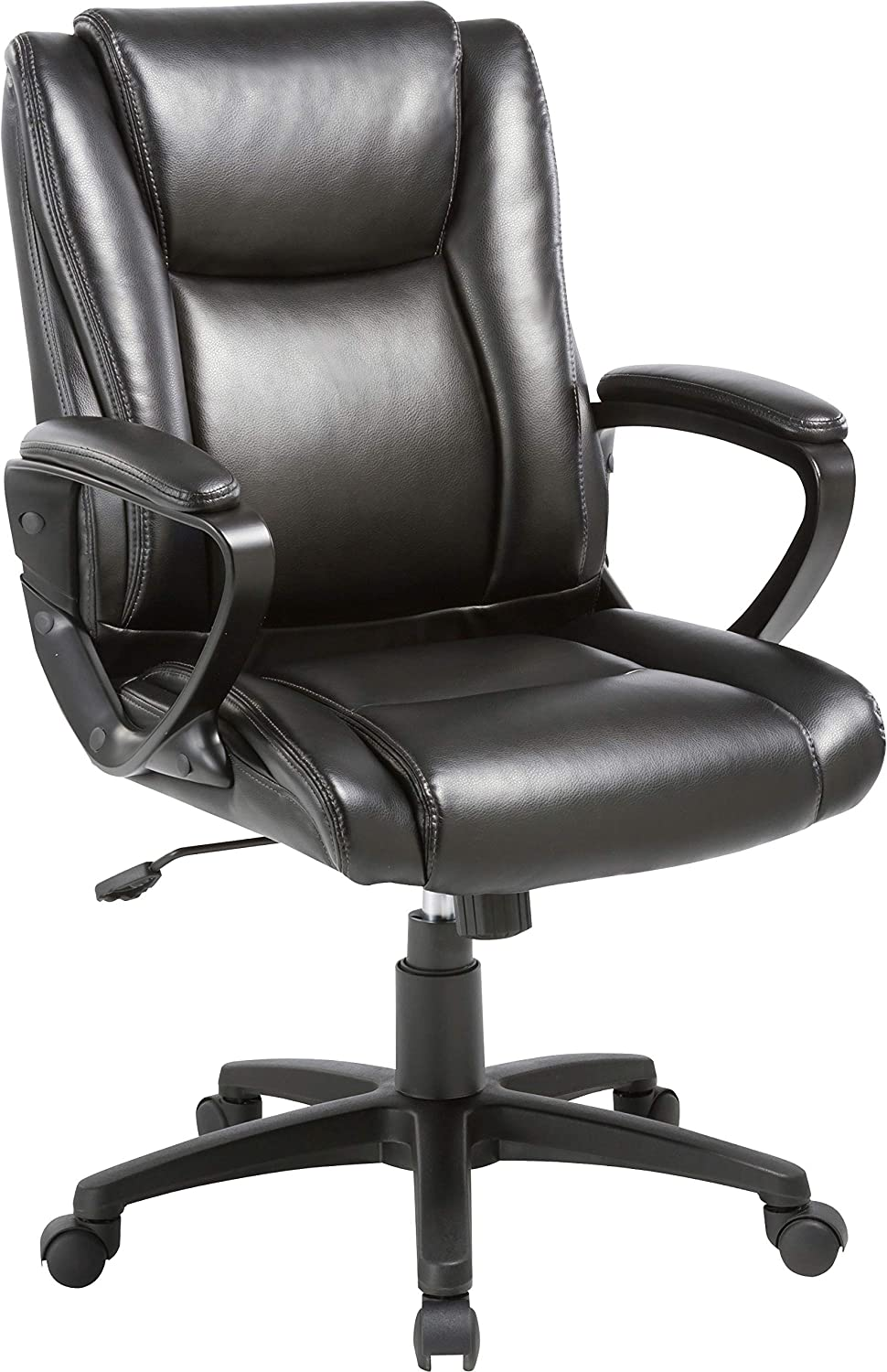 Amazon Com Kovalenthor Ergonomic Office Chair Desk Chair Computer Chair Task Rolling Swivel Modern High Back Pu Leather Executive Chair With Lumbar Support Modern Executive Chair And Computer Desk Chair Black Kitchen