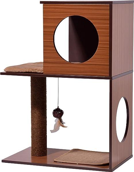 dobar 35275FSCe Kelly - Mueble para Gatos con Cueva para Gatos, Columna para rascar,