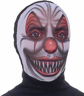 Forum Novelties Men's Scary Clown Hooded Mesh Mask White
