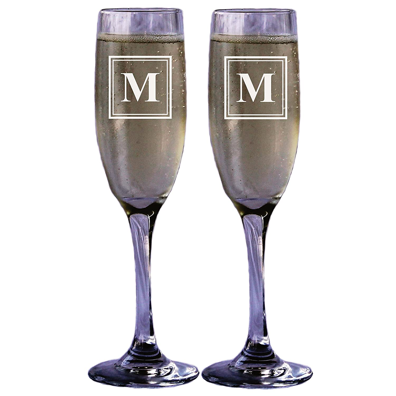 Amazon.com | Engraved Personalized Champagne Glass Toasting Flute ...