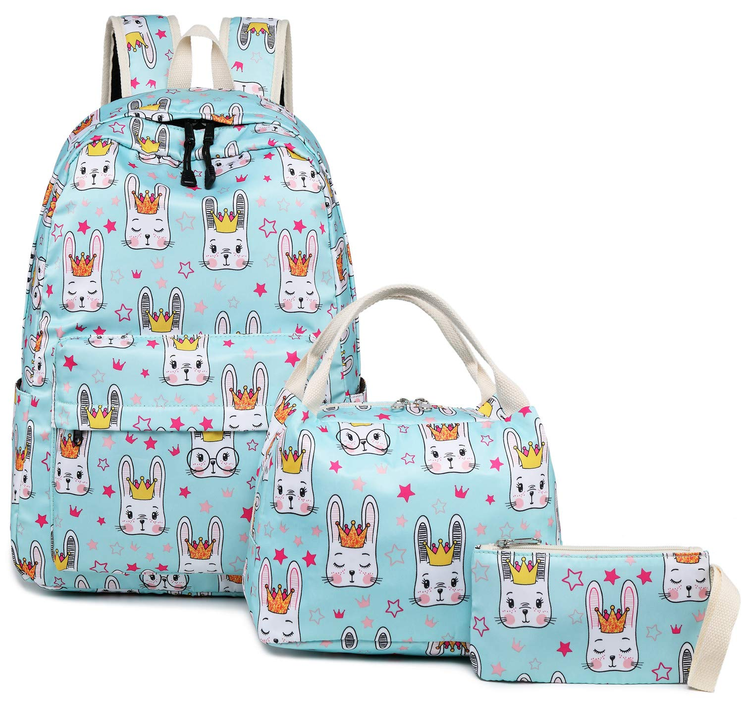 004779d8f6bf Galleon - Backpack For School Girls Teens Bookbag Set School Bag 15