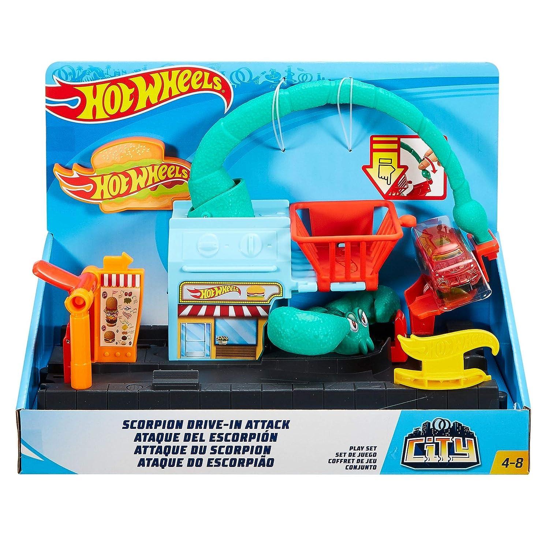 Amazon Com Hot Wheels City Scorpion Playset Toys Games