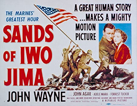 Image result for sands of iwo jima movie poster