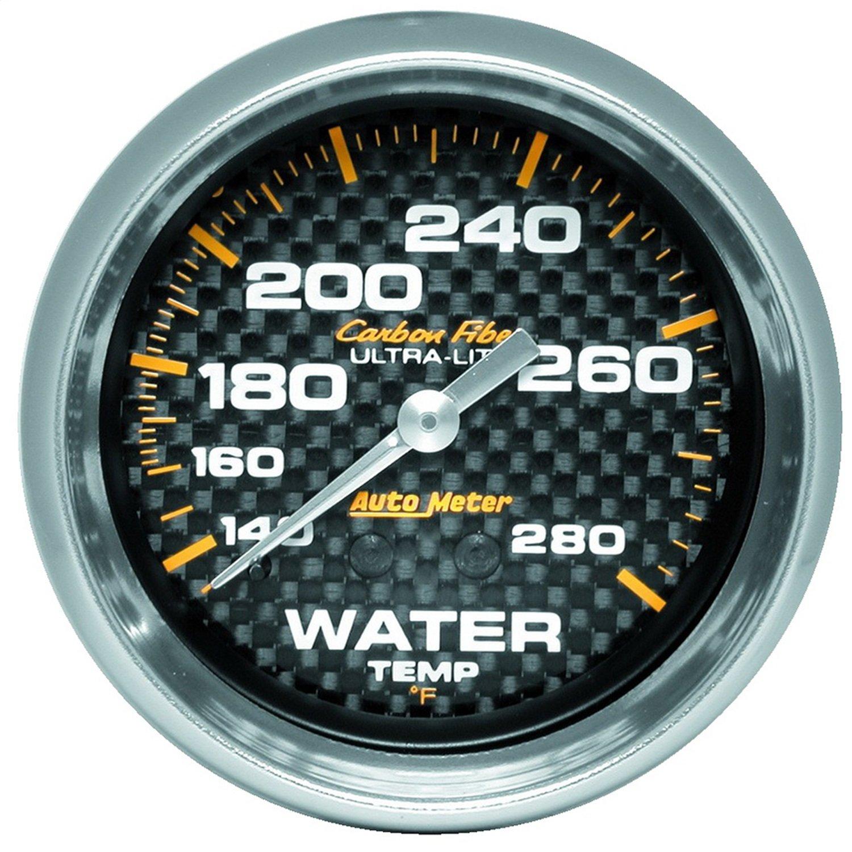 Auto Meter 4831 Carbon Fiber Mechanical Water Temperature Gauge