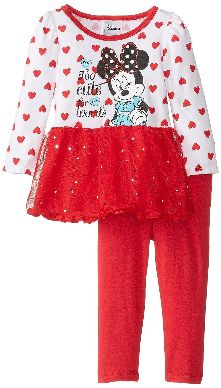 【 新品 】 Disney ' Baby Minnieマウス2 Girls ' Disney Minnieマウス2 Pieceハート長袖チュニックセット 24 Months チャイニーズレッド(Chinese Red) B00K0A6QIK, 住宅設備機器の小松屋:9ebc7a16 --- a0267596.xsph.ru