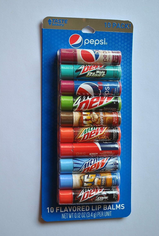 Taste Beauty Pepsi 10 Flavored Lip Balms (Pack of 1)