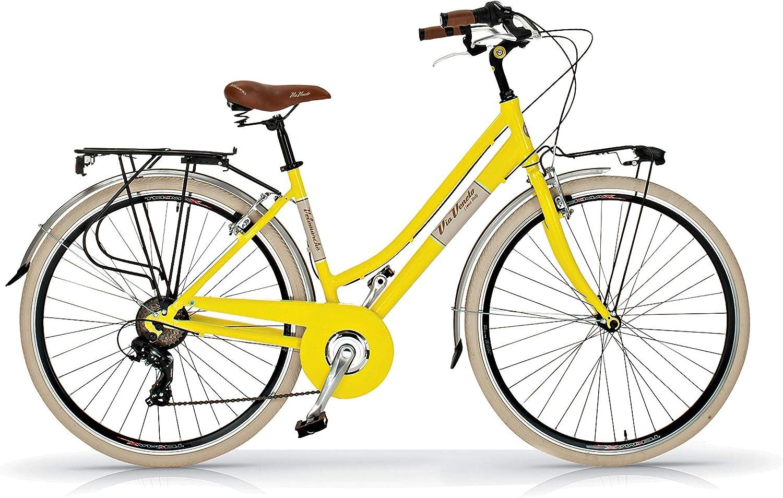 Via Veneto Bicicleta 605 Retro, Aluminio, Mujer, Paseo, Vintage, Color Verde Giulietta, by Airbici: Amazon.es: Deportes y aire libre