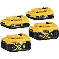 4-Pack DeWalt 20V MAX Lithium Ion Battery, 4-Ah & 2-Ah Deals
