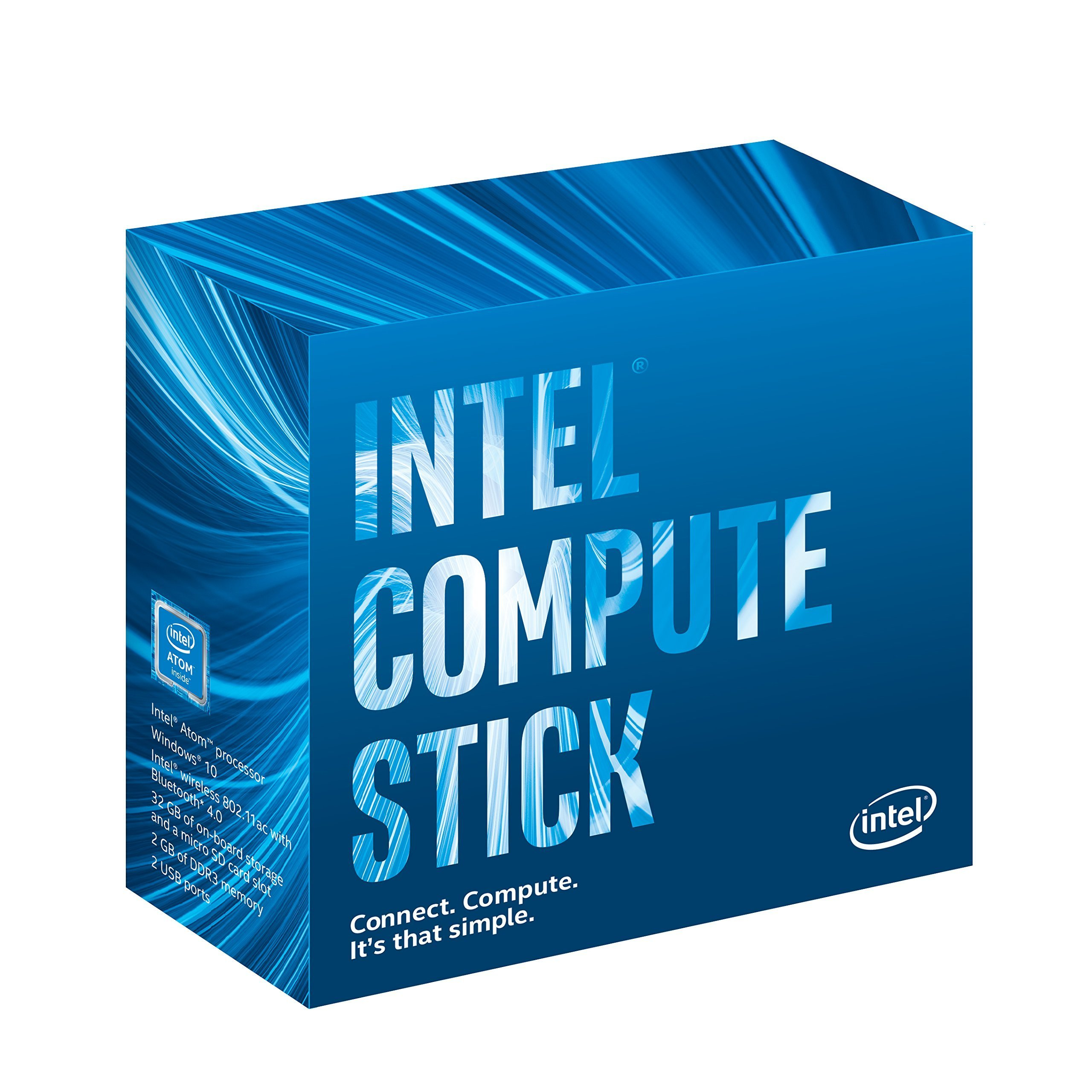 Intel Compute Stick CS125 Computer with Intel Atom x5 Processor and Windows 10 (BOXSTK1AW32SC) by Intel