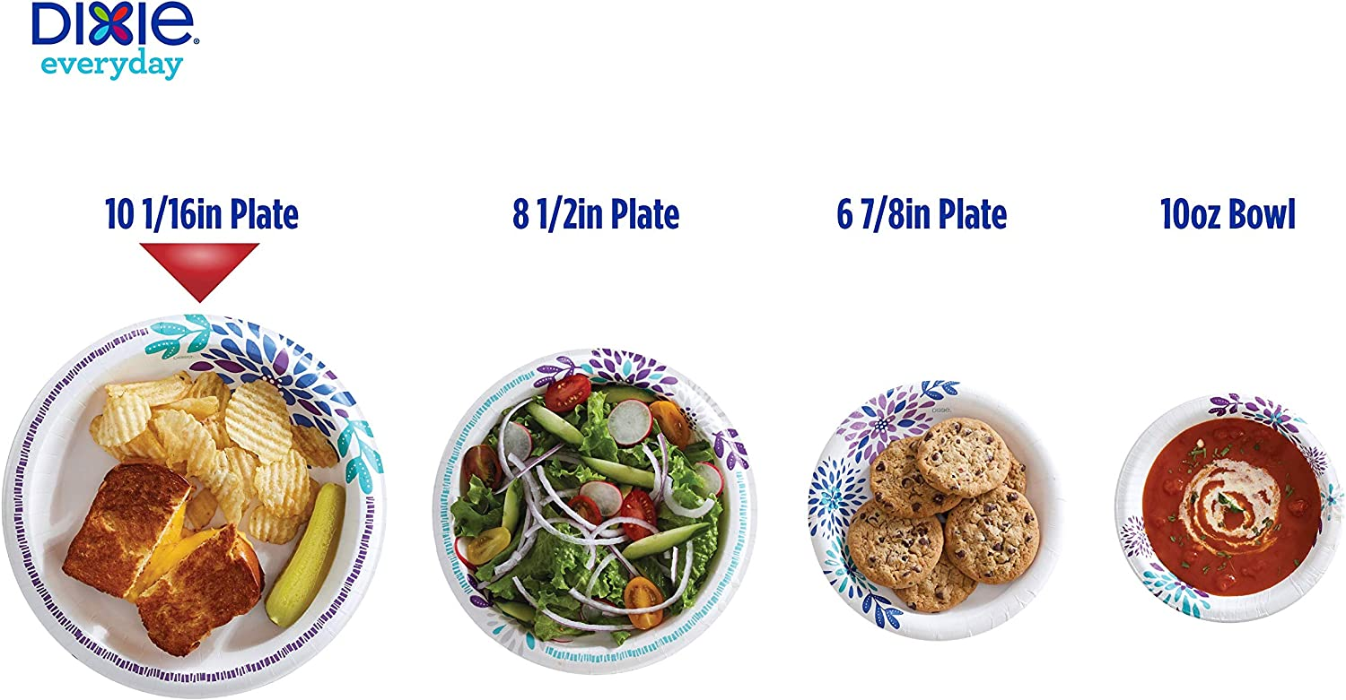 Dinner Size Printed Disposable Plates