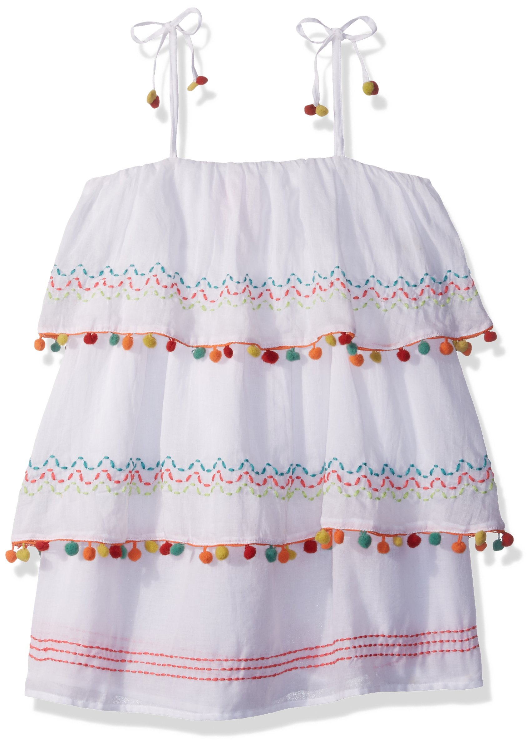 OndadeMar Little Girls' Short Dress Cover-up, Amazonia, 8