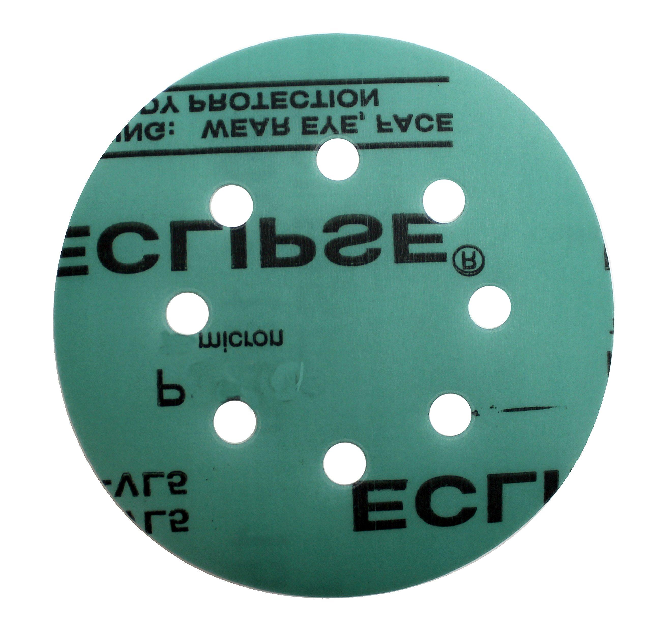 Sungold Abrasives 74794 Eclipse Film Hook & Loop Stearated Aluminum Oxide Sanding Discs Fine Grit Assortment (40 Pack), 5''X8 Hole,