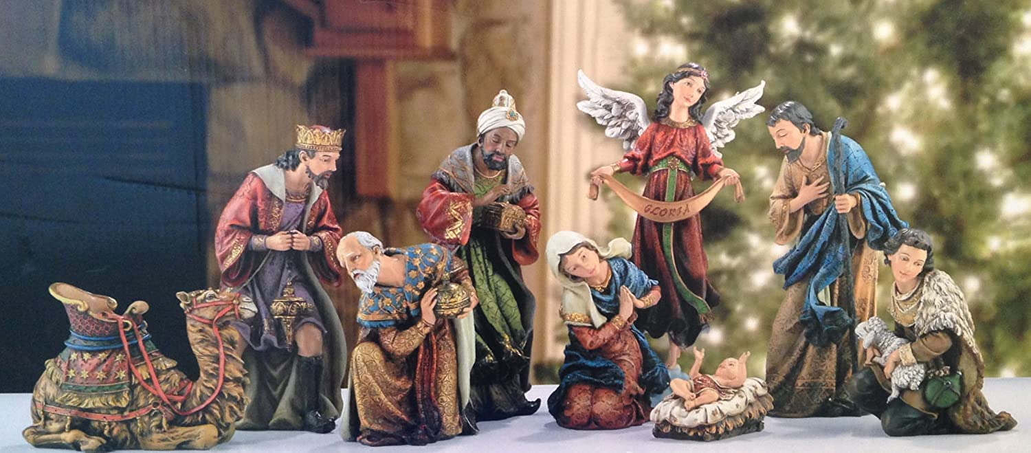 9 Piece The Promise of Christmas Large Deluxe Nativity Set by Robert Stanley
