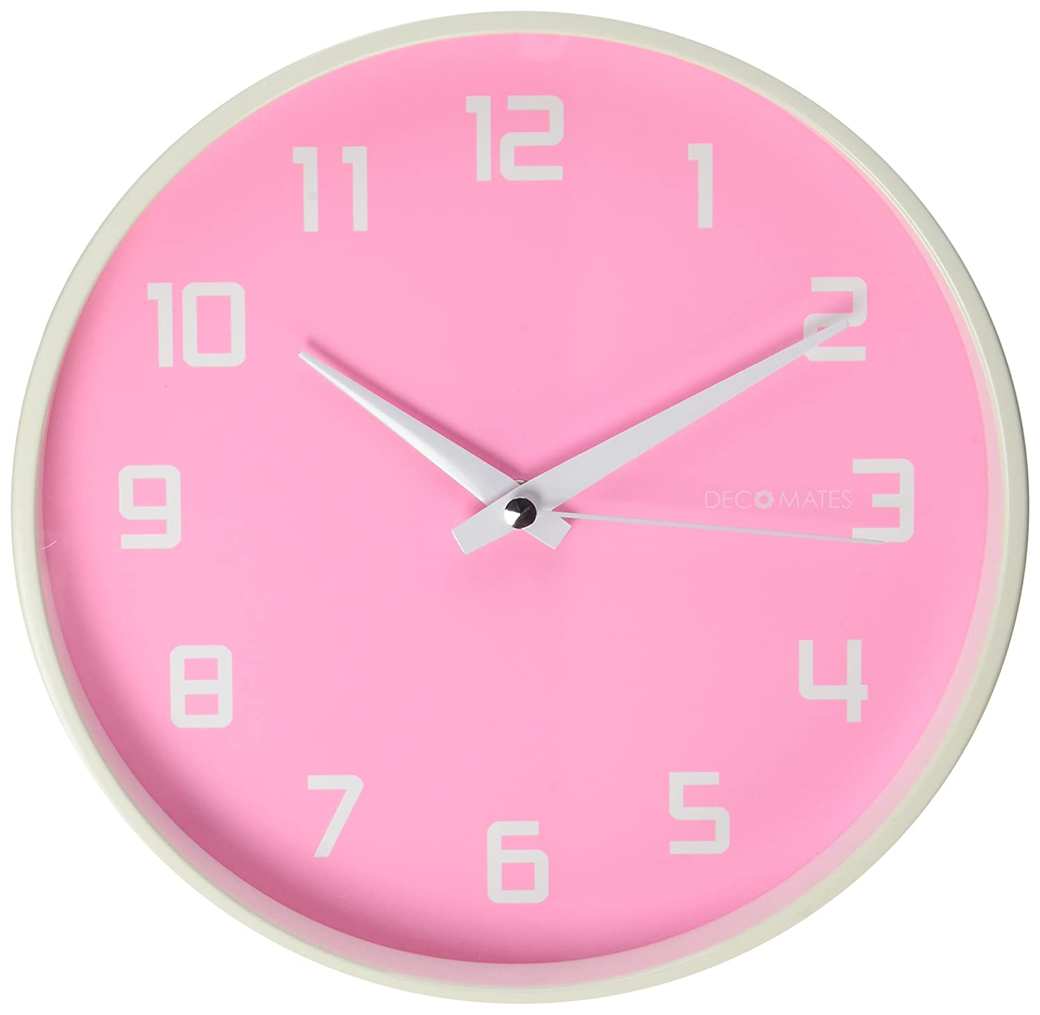 Amazon decomates non ticking silent wall clock pink fruity amazon decomates non ticking silent wall clock pink fruity watermelon home kitchen amipublicfo Image collections