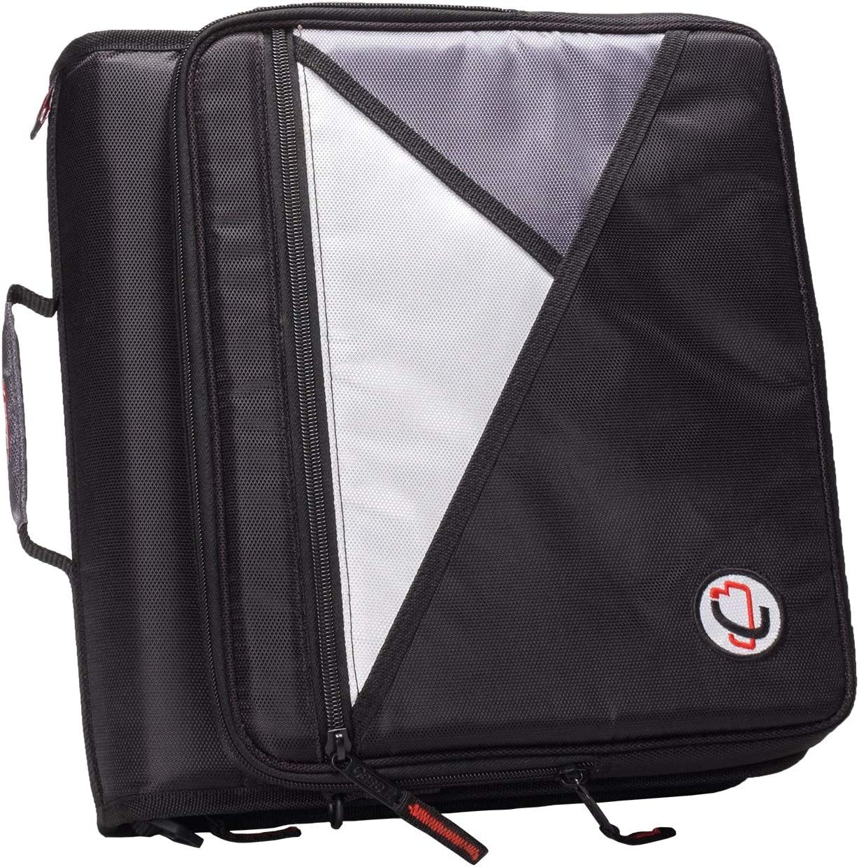 Case-It 1.5-Inch 3-Ring Zipper Binder with Removable Laptop Sleeve, Black, LT-207-BK