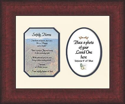 Amazon.com - Safely Home Poem Memorial Inspirational Photo Frame ...
