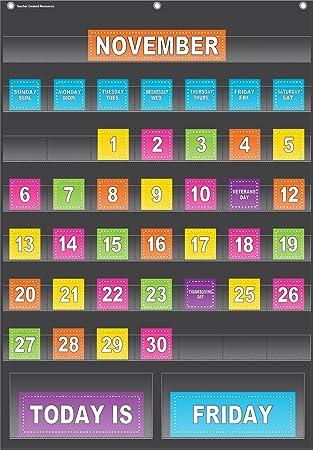 Amazon black calendar pocket chart