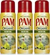 Pam Organic Olive Oil Cooking Spray 5oz Can (Pack of 3)
