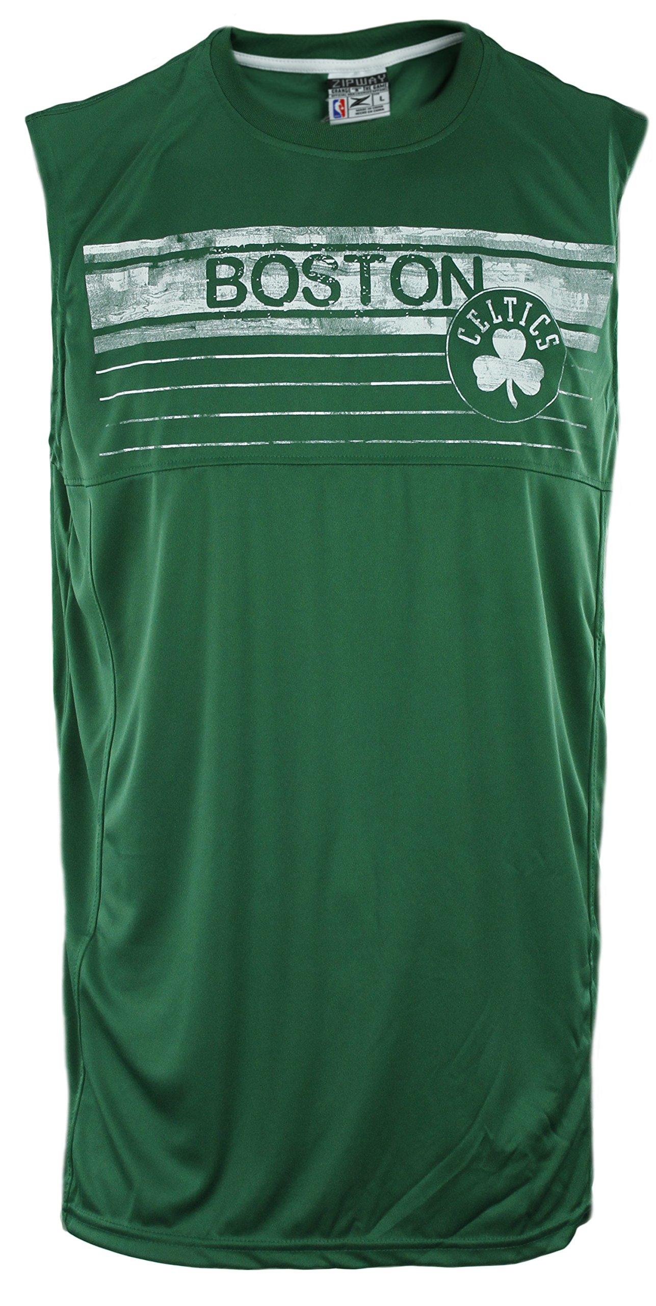 643a8a36 Zipway Boston Celtics NBA Big Mens Muscle Shirt, Green - Boston Fanz