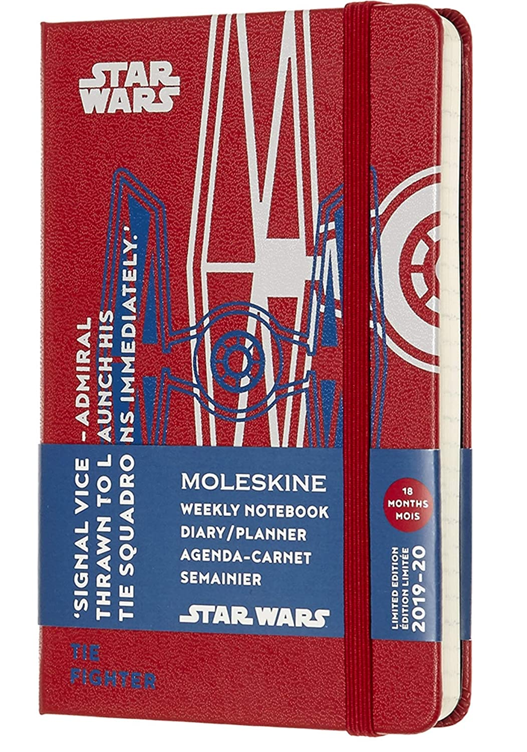Moleskine Limited Edition Star Wars 18 Month 2019-2020 Weekly Planner, Hard Cover, Pocket (3.5