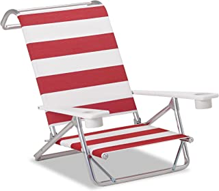 product image for Telescope Casual M54149502 Original Mini-Sun Chaise, Red/White Stripe, 2 Pack