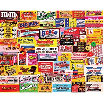White Mountain Puzzles Candy Wrappers - 1000 Piece Collage Jigsaw Puzzle: Toys & Games