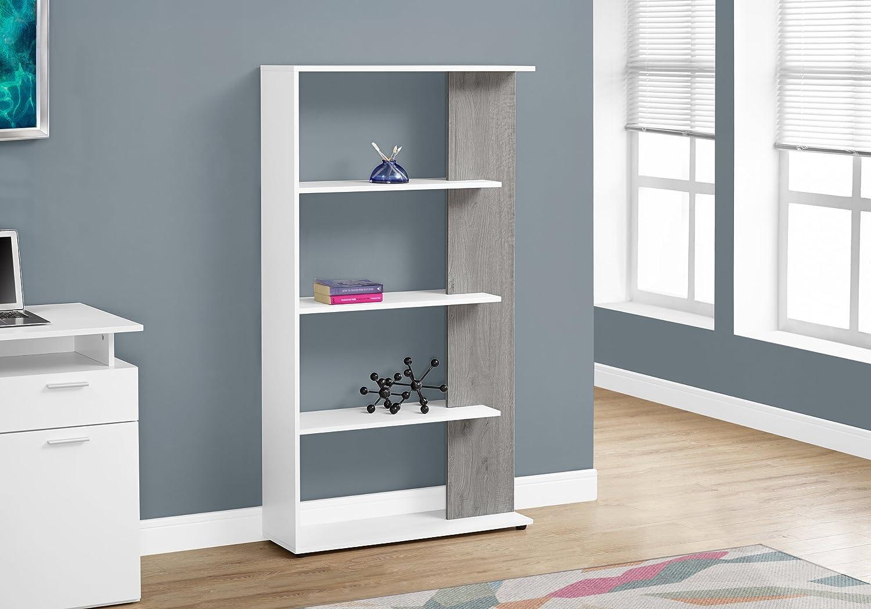 Monarch Specialties I 7355 Bookcase, White