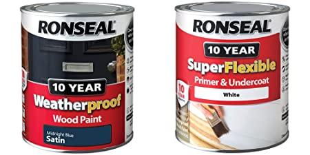 Ronseal 10 Year Weatherproof Exterior Wood Paint 750ml Satin Or Gloss   All  Colours Plus Superflexible