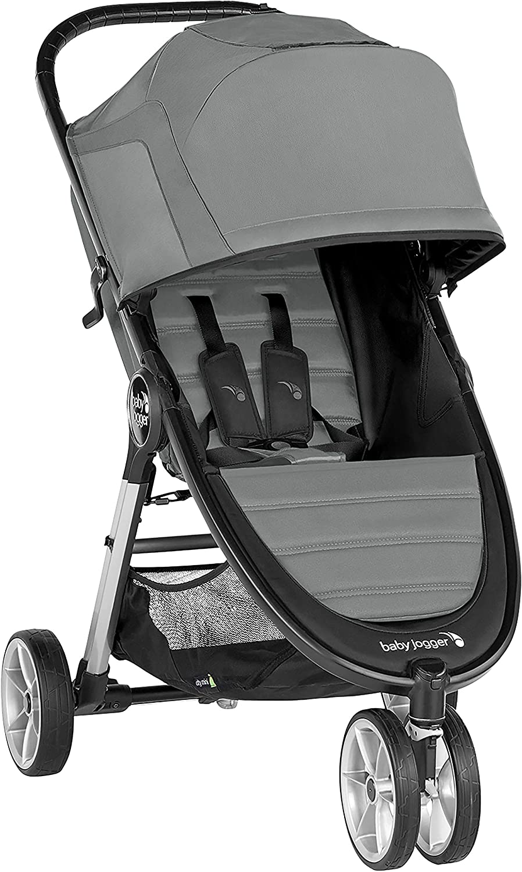 Baby Jogger 2083060 City Mini 2 - Silla de paseo ligera, 3 ruedas, mecanismo de plegado rápido con una sola mano Slate (gris).