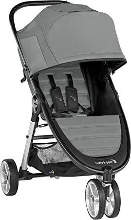 Oferta amazon: Silla de paseo City Mini® 2 de 3 ruedas Slate de Baby Jogger, desde nacimiento a 22kg. Color gris