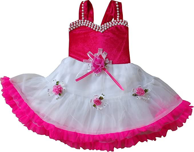 MPC Cute Fashion Baby Girl's Velvet and Soft Net Frock Dress for Girls' Dresses & Jumpsuits at amazon