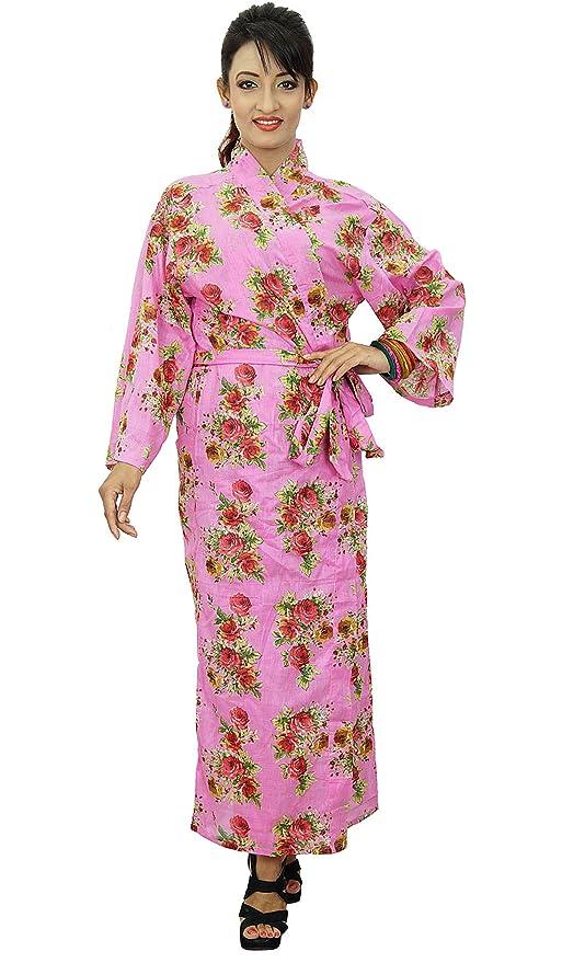 Kimono cruce del traje del algodón floral Batas boda Novia que consigue listo: Amazon.es: Ropa y accesorios