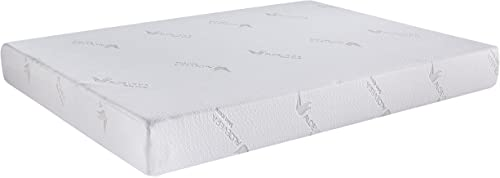 AC Pacific Soft Aloe Collection 6 Inch Luxury Soft Bedroom Aloe Vera Extract Infused Fabric Covered Memory Foam Mattre