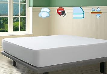 SAVEL, Protector de colchón Coralina 100% Algodón Impermeable y Transpirable, 80x190/200cm (para Camas de 80): Amazon.es: Hogar