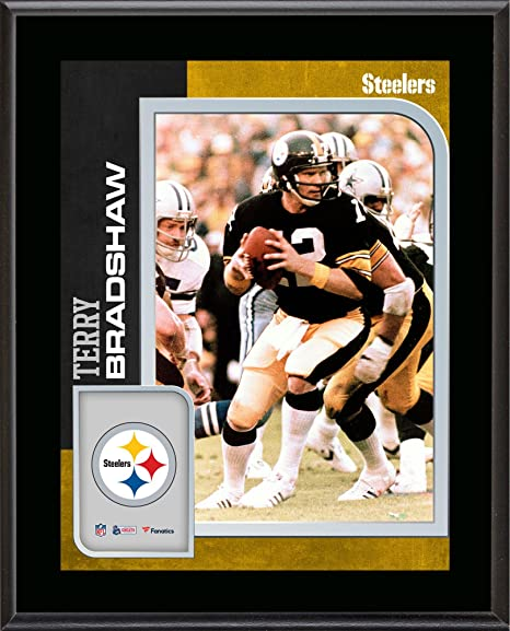 e7049e877b5 Amazon.com  Terry Bradshaw Pittsburgh Steelers 10.5   x 13   Sublimated  Player Plaque - NFL Player Plaques and Collages  Sports Collectibles