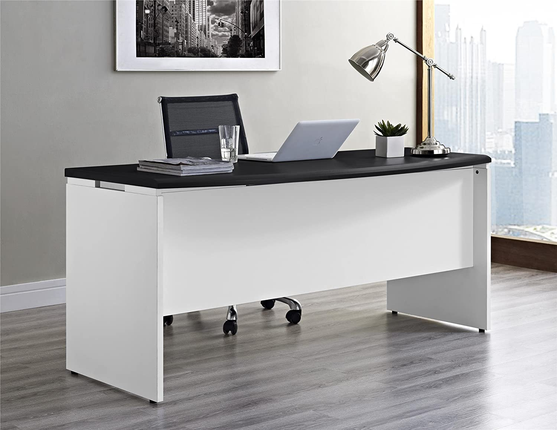 Amazon Com Altra Pursuit Executive Desk White Gray Kitchen Dining
