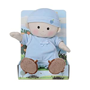 Apple Park Baby Boy Doll - Toy for Newborns, Infants, Toddlers - Hypoallergenic, 100% Organic Cotton