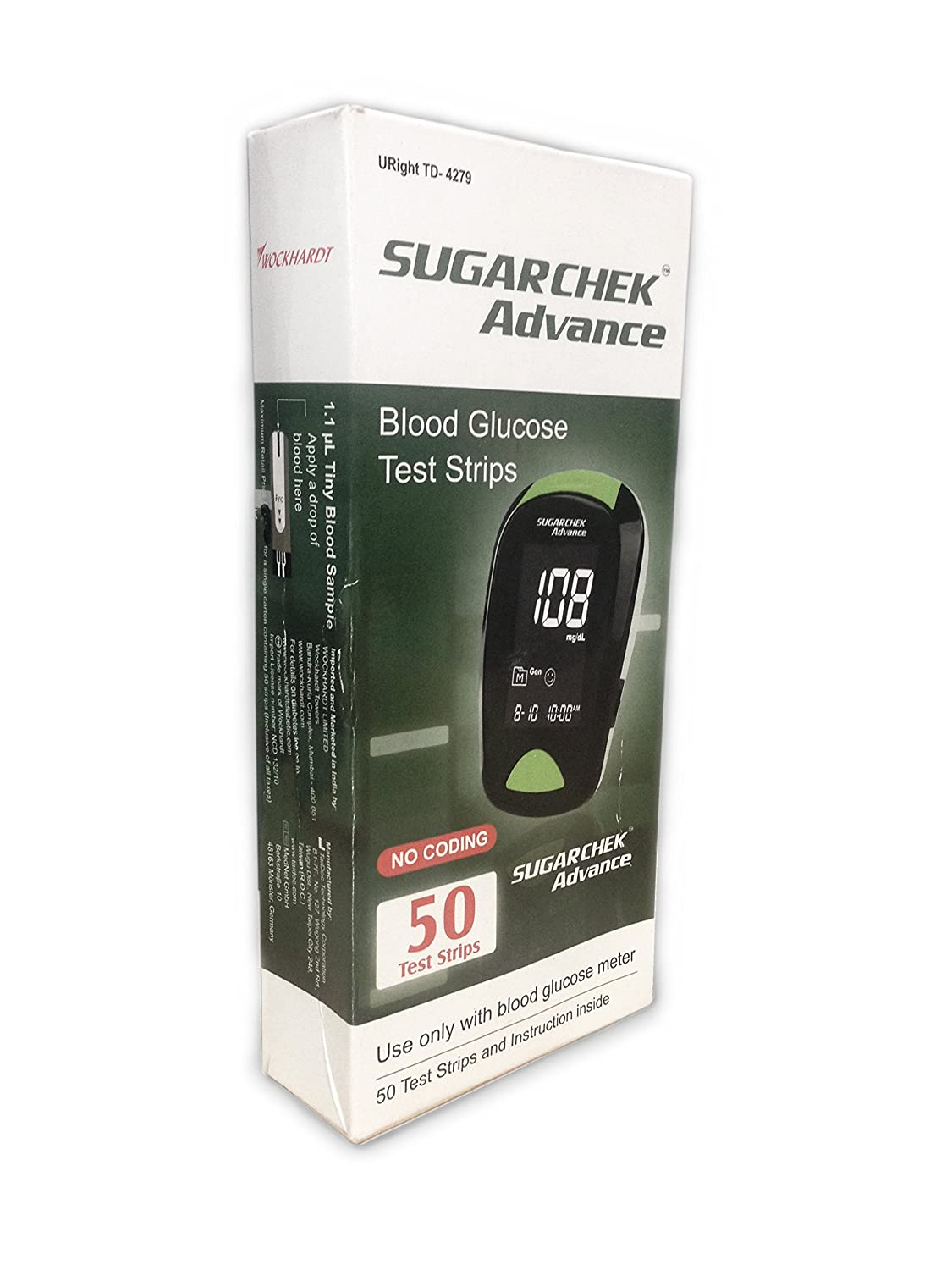 Amazon.com: Sugarchek Advance 50 Count Blood Glucose Test Strips, FDA Approved: Health & Personal Care