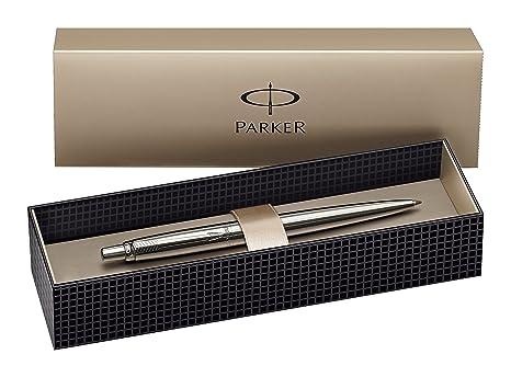 Parker Jotter - Bolígrafo de punta redonda, color plata