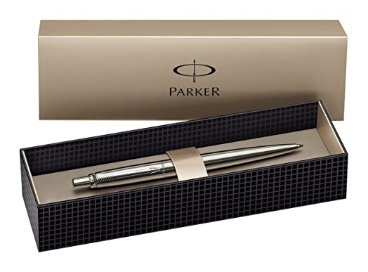 Parker Jotter Stainless Steel Chrome Trim Ballpoint Pen, Gift ...