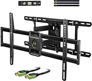 """USX MOUNT Full Motion TV Mount Wall Bracket with Articulating Arms for 42""""-80"""" Flat Screen LED LCD 4K TV, Tilt Swivel TV Mounts with Max VESA 600x400mm, Weight Capacity 99lbs Up to 24"""" Wood Stud"""