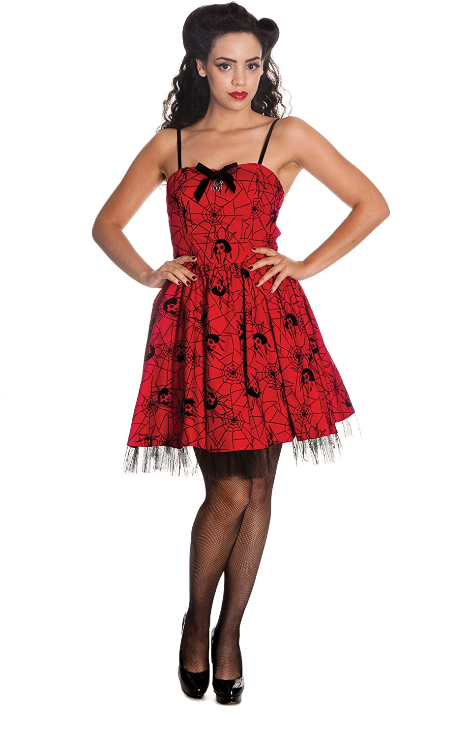 US 12 Hell Bunny Red Mary Jane Dress L