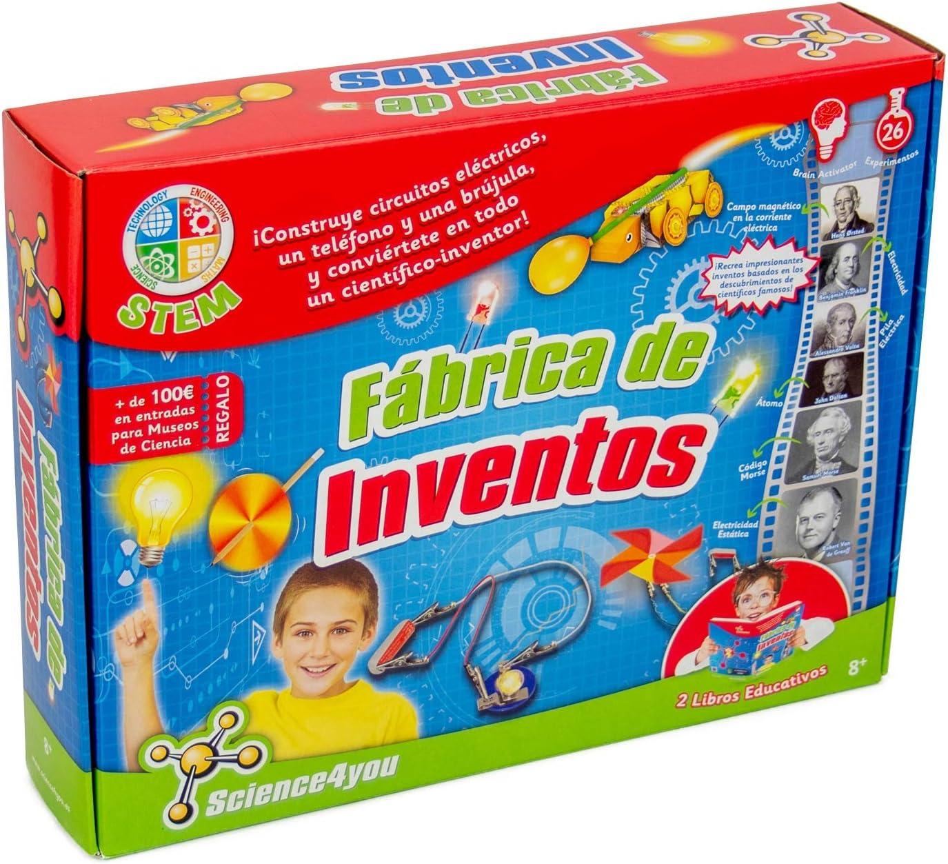 Science4you-5600983600225 Fábrica de Inventos, Juguete Educativo y Científico para Niños +8 Años, Multicolor, única (600225): Amazon.es: Juguetes y juegos