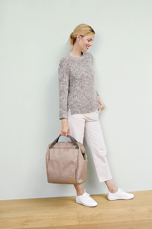 L/ässig 1103010708/Mochila para pa/ñales Glam Goldie Backpack color rosa