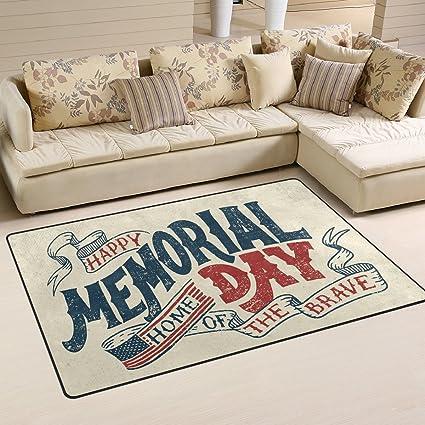 Amazon.com: ALAZA Happy Memorial Day Doormat Entrance Floor ...