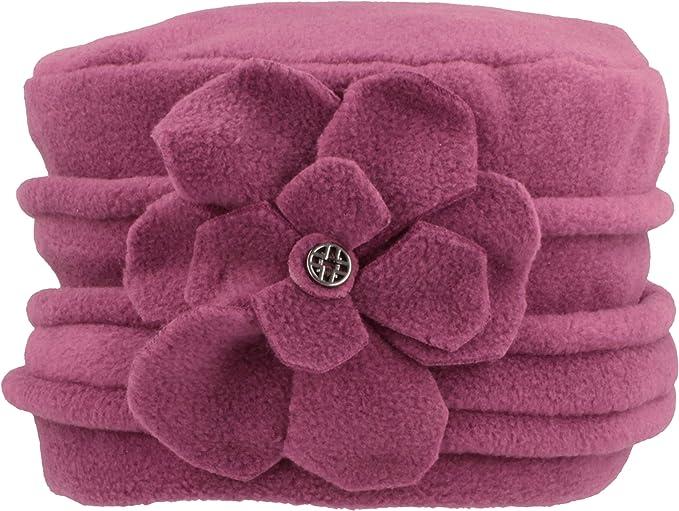 Mütze Wintermütze Damenmütze Fleecemütze mit Kunstfellbommel kuschelweich NEU