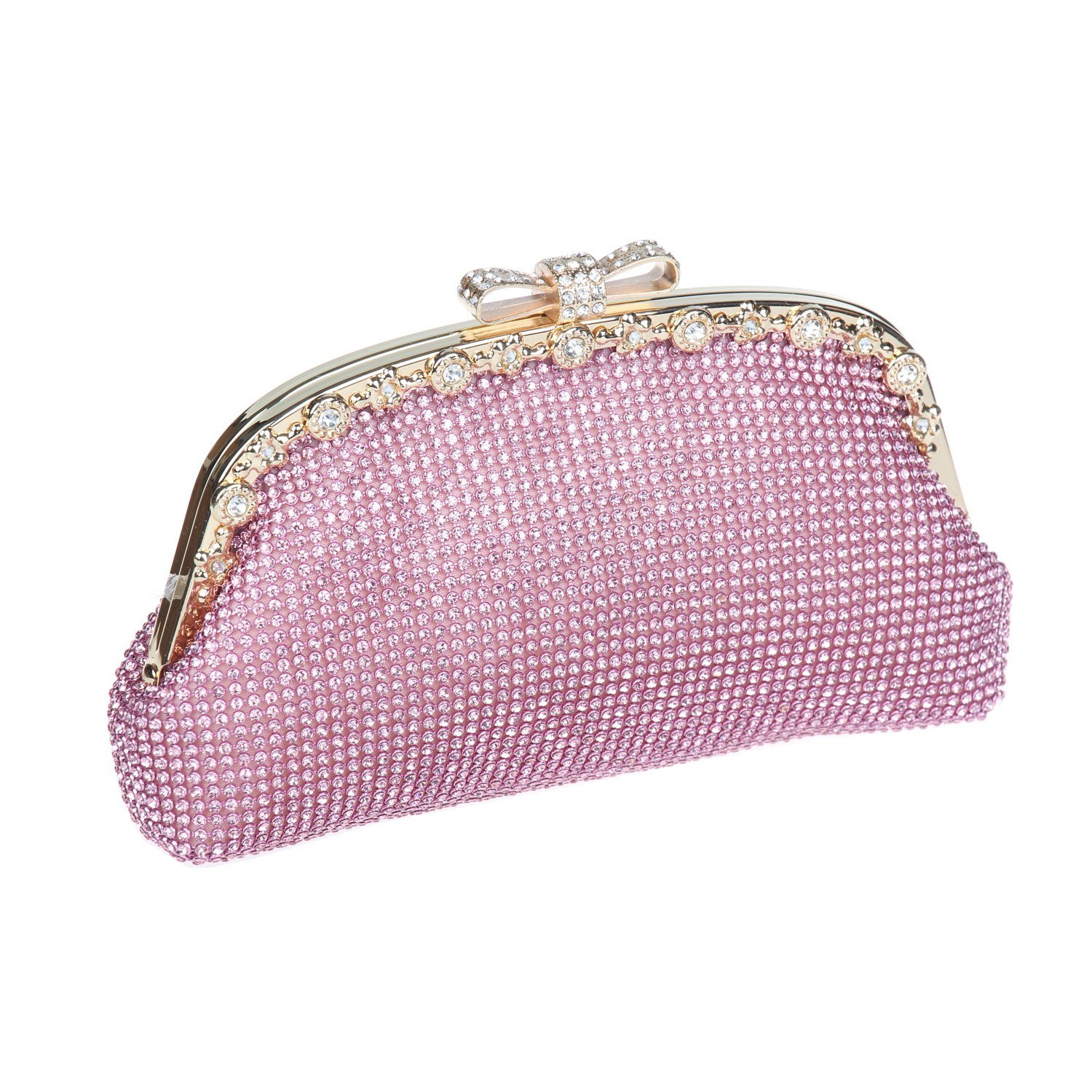 Pink Ustylish Crystal Party Prom Clutch Purse Bag in 8 colors