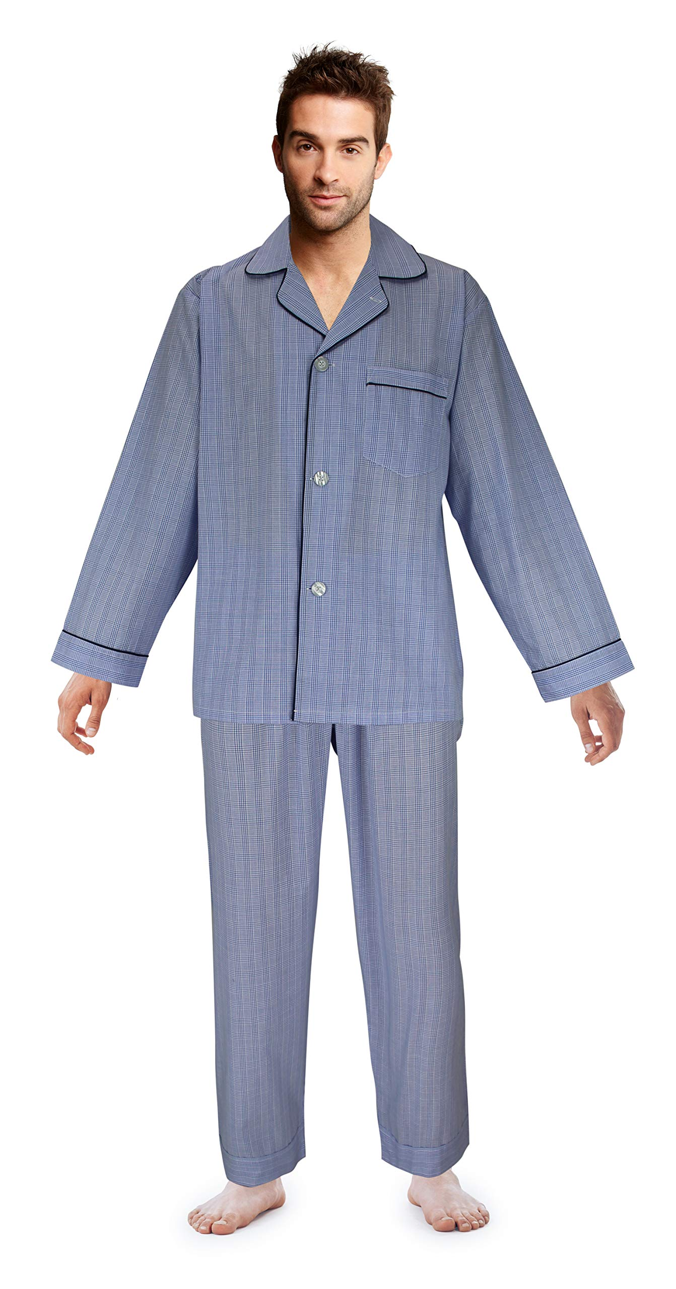 Casual Trends Big Boys Button Front Pajama Set, Size 20