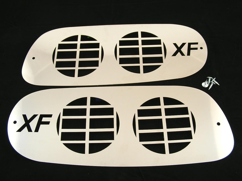 Einzigartige Edelstahl Nebelscheinwerfer Protectors Dekorationen f/ür DAFXF LKW